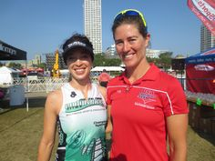 Coach Rachel w/ Laura Bergmann at the USA Triathlon Age Group National Championships in Milwaukee, WI in August 2014.