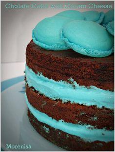 LA COCINA DE MORENISA: Pastel de Chocolate con Crema de Queso