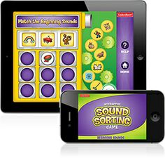 Beginning Sounds Interactive Game - app by Lakeshore Learning - you can choose which begining sounds to work on. Kids sort word pictures into 3 beginning sound categories. Would be good for kids working on initial position artic. Apps For Teaching, Learning Apps, Teaching Phonics, Kids Learning, Literacy Skills, Early Literacy, Educational Apps For Kids, Lakeshore Learning, Dec 30
