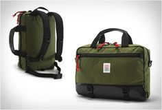 We´re loving this Commuter Briefcase by Topo Designs, a versatile bag for your everyday carry. Available in several colors, the bag lets you choose between three carrying styles, as a backpack (includes stowable backpack straps), and as a messenger b Backpack Straps, Backpack Bags, Commuter Bag, Best Bags, Briefcase, Luggage Bags, Messenger Bag, Shoulder Strap, Satchel