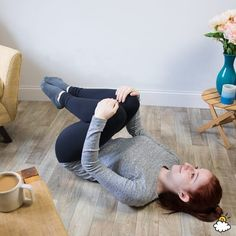 Trapped Gas: 10 Stretches That Can Help You Pass Wind Quickly - Mortgage Relieve Gas Pains, Relieve Gas And Bloating, How To Relieve Stress, Trapped Wind Relief, Trapped Gas, Gas Remedies, Stomach Remedies, Natural Remedies, Yoga For Gas