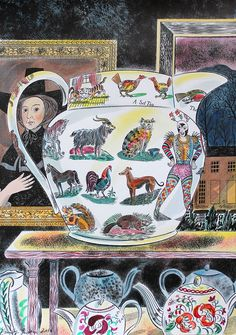 Emily Sutton 'Lumber Room Jug' watercolour drawing. This Friday sees the opening of Emily Sutton and Mark Hearld's latest exhibition at their York home. The duo will be exhibiting new drawings, paintings, collages, prints and ceramics. Find out more... http://allthingsconsidered.co.uk/2016/04/emily-sutton-mark-hearld.html