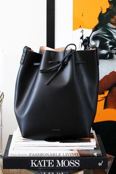 Le Fashion Blog Mansur Gavriel Black Ballerina Interior Bucket Bag The Line Brooklyn Apartment Home Decor Kate Moss Coffee Table Book L'Ecli...