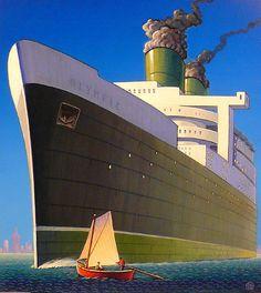Our Gallery: The Streamlined World of Robert LaDuke – Dieselpunk Encyclopedia Gallery Website, Art Deco Posters, Modern Artists, Art For Art Sake, Retro Art, Art Deco Design, Edward Hopper, Vintage Travel Posters, Dieselpunk