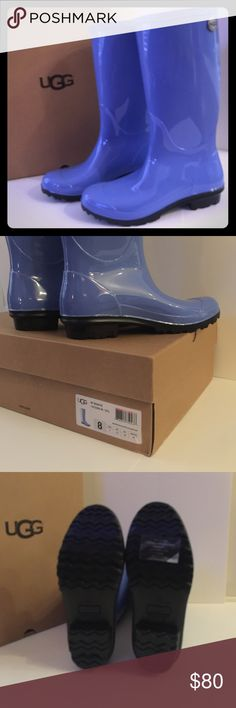 💥BNIB UGG RAIN BOOTS💥 Beautiful periwinkle Shaye (tall) UGG rain boots!!! THESE ARE BRAND NEW, NEVER WORN. These were a Christmas gift for my daughter, but unfortunately they are too big. ❌NO TRADES❌ UGG Shoes Winter & Rain Boots