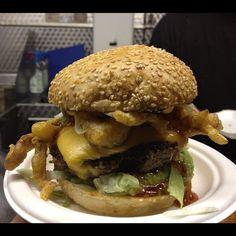This is the Lucky Chip 'Bill Murray Life Acquatic Surf N Turf Burger' with soft shell crab #faint!