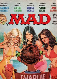 Magazine photos featuring Farrah Fawcett on the cover. Farrah Fawcett magazine cover photos, back issues and newstand editions. Sergio Aragonés, Comic Book Covers, Comic Books, Tv Covers, American Humor, Magazin Covers, Nostalgia, Kate Jackson, Mad Magazine
