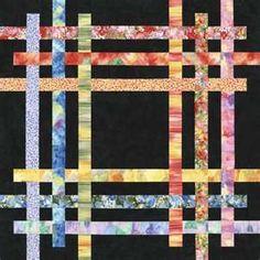 beautiful in batik quilt idea.  Great way to use  batik scraps …