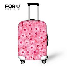 FORUDESIGNS Luggage Protective Cover 3D Floral Prints Waterproof Elastic Travel Suitcase Covers Made S/M/L For 18-30 Inch Cases #Affiliate