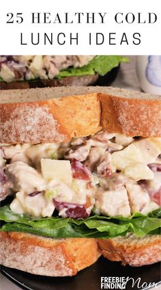 Do you need quick, easy, and delicious cold lunch ideas for work or home? Here you'll find 25 Healthy Cold Lunch Ideas that are nutritious, flavorful, and budget friendly. Try healthy recipes like Gluten Free Greek Pasta Salad, Skinny Chicken Caesar Pitas, Greek Yogurt Chicken Salad Sandwich, and more! #coldlunchideas #coldpastasaladrecipes #healthylunchideas #healthyrecipes Low Calorie Recipes, Healthy Recipes, Diabetic Recipes, Free Recipes, Keto Recipes, Greek Yogurt Chicken Salad, Greek Pasta, Healthy Cold Lunches, Lunch Snacks