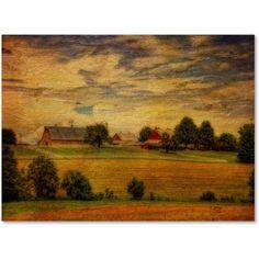Trademark Fine Art Summer Farm Canvas Art by Lois Bryan, Size: 14 x 19, Multicolor
