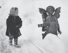 """furtho: """"Martin Martinček's The Child And The Angel, 1963 (via here) """" Vintage Photographs, Vintage Photos, Modern Photographers, Good Old Times, Quiet Moments, Magazine Art, Betty Boop, Black And White Photography, Rome"""