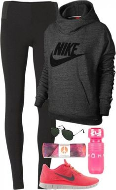 Nike Outfits, Sport Outfits, Casual Outfits, Nike Fitness, Moda Fitness, Fitness Wear, Fitness Outfits, Fitness Goals, Fitness Tips
