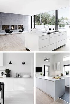 MUSTA OVI // Raksablogi: INSPIRAATIO: KEITTIÖ Black Kitchens, Home Kitchens, Interior Decorating, Interior Design, Living Room Kitchen, Loft, Minimalist Home, Kitchen Interior, Interior Architecture