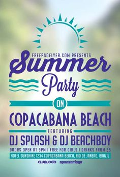 Summer Beach Party Free Flyer Template…