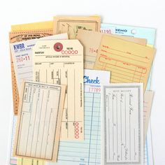 Love these vintage papers!