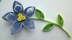 quilling tutorial for beginners flowers - YouTube