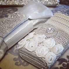 Gorgeous Bridal Handbags | Wedding Handbags via www.aubresbridal.com