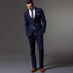 Custom Made Dark Blue Men Suit Tailor Made Bespoke Men Wedding Suit Slim Fit Groom Suit For Men