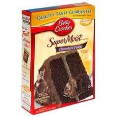 BETTY CROCKER CAKE MIX SUPER MOIST CHOCOLATE FUDGE ** For more information, visit image link.