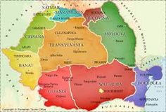 Romania - Historical Regions Map (HartaRegiunilor Istorice) - RomaniaTourism, information website regarding travel to Romania. Provides travel information, brochures, maps and pictures for Romania Romania Map, Visit Romania, Romania Travel, Romania Facts, Romania Tourism, Transylvania Romania, Carpathian Mountains, Travel And Tourism, Travel Information