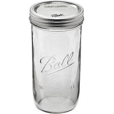 Ball 9-Count 24-Ounce Wide Mouth Jars with Lids and Bands (Skinny Mason Jars)