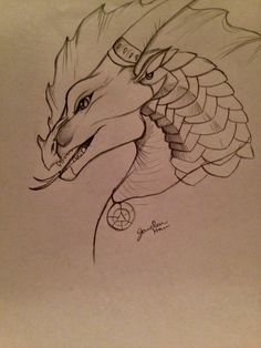 Commander Scalding for Demonhunter Fantasy Creatures, Mythical Creatures, Dragon Art, Dragon Head, Tracing Art, Yin Yang Art, Fire Drawing, Wings Of Fire Dragons, Dragon Sketch