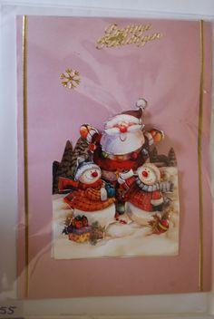 0055, Kerstman met sneeuwpoppen