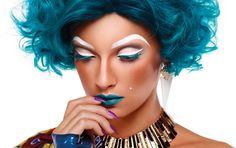 Spring from Illamasqua—Fierce! Love this blue hair. Katy Perry look out!