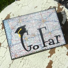 Handmade Graduation Greeting Card  Go Far by EmbellishbyJackie, $6.00
