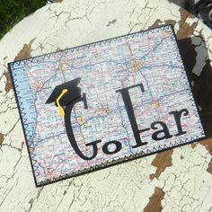Handmade Graduation Greeting Card  Go Far by EmbellishbyJackie, $6.00