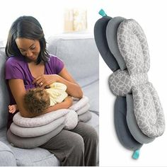Flexible Nursing Pillow that eases successful nursing in whatever hold feels right to you. This uniquely layered pillow easily adjusts, raising baby to breast with three elevation levels so it opens up more nurs. Breastfeeding Pillow, Pregnancy Pillow, Baby Life Hacks, The Joys Of Motherhood, Baby Pillows, Pillow For Baby, Baby Care Tips, Baby Sewing Projects, Baby Supplies