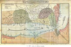 MAP OF YEMEN VILAYET (Red Sea around) IN OTTOMAN STATE, LATE 19TH CENTURY