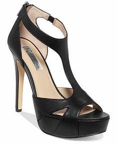 INC International Concepts Women's Meldah T-Strap Platform Sandals - Shoes - Macy's