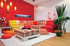 Decoración de Salas en Color Rojo. Decoración de Salas en Color Rojo. El color rojo es sumamente en la decoración de salas, especialmente es un color que representa la vitalidad, la pasión,
