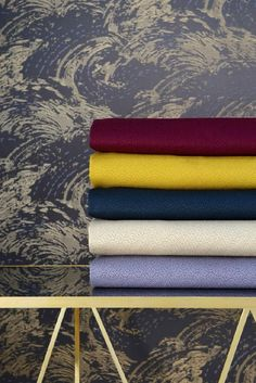 From the Lelievre Spring Collection, the Grana fabrics that feature 23 color options. Spring Collection, Color Inspiration, Color Schemes, Spring Summer, Spring 2016, Interior, Console, Fabrics, Collections