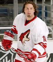 hockey player Tyson Nash - Coyotes