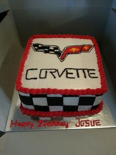 Little red Corvette Birthday cakes Corvette cake and Cake