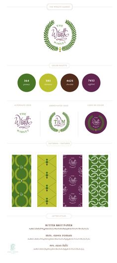 The Wreath Market Branding Design by Emily McCarthy