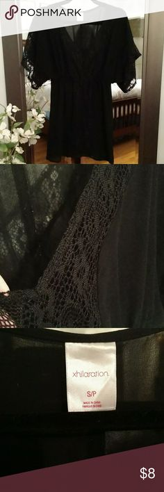 Black sheer bathing suit cover up Black cover up. Sheer Xhilaration Swim