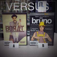 #VERSUS Which is better #Borat or #Bruno? #TheExchange #TheExchangeVERSUS #sachabaroncohen