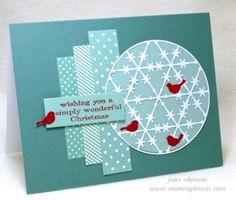 Card by Jean Okimoto (121713)  designer's site  http://davebrethauer.typepad.com/inkollage/   [Memory Box  Grand Snow Globe, Resting Birds, Sussex Globe]