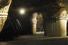 bouvet-ladubay | had a private tour of the cellars- wonderful French!