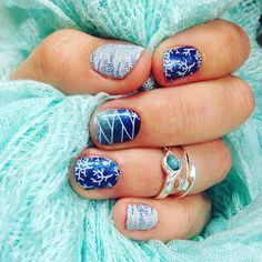 Loving my new mani!! Seaside Sparkle is on the middle finger and on the rest of my hands I am wearing Australia City Tour:) #australiacitytourjn #seasidesparklejn #seasidejn