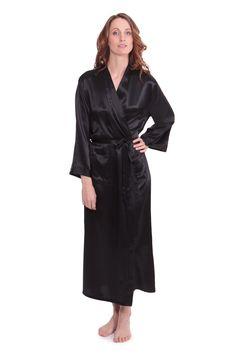TexereSilk Women s Long Silk Robe - Luxury Bathrobe by (Perla Naturale b1dd68c65