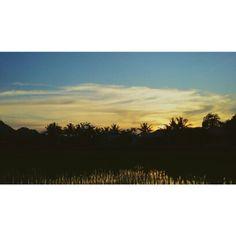 When the sun goes down #natural #exploreindonesia #explore_eastborneo #explorekukar #exploreloakulu