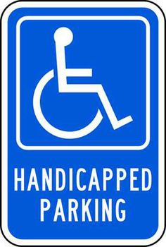 Sign, HANDICAPPED PARKING (PICTO), 12X18 EGP