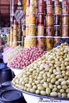 Another pic of the olive souq.  Do you see all those jars of olives?  Total heaven.  Another pic by MarocMama
