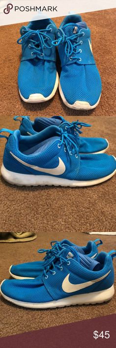 Selling baby blue nike Roshe size 10 Lightly used Nike Roshe I haven't worn them in over a year that is the reason I am selling this item. Upon purchase, will completely clean the shoes using Jason Markk shoe cleaning kit! Nike Shoes Athletic Shoes