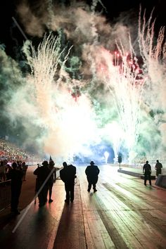 Photographing the Norwalk Summit Motorsports Park Night Under Fire. The beautiful firework display at the end of the event.
